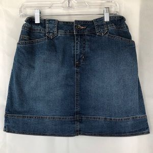 St. John's Bay Stretch Blue Jean Denim Skirt
